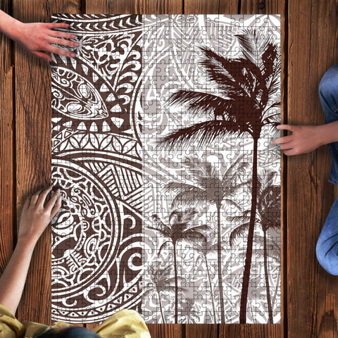 Image of Kanaka Maoli (Hawaii) Puzzle - Polynesian Coconut Tree | Love The World