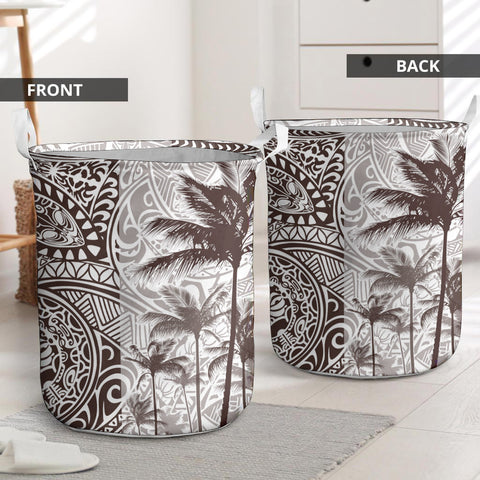 Polynesian Laundry Basket Coconut Tree Brown I Love The World