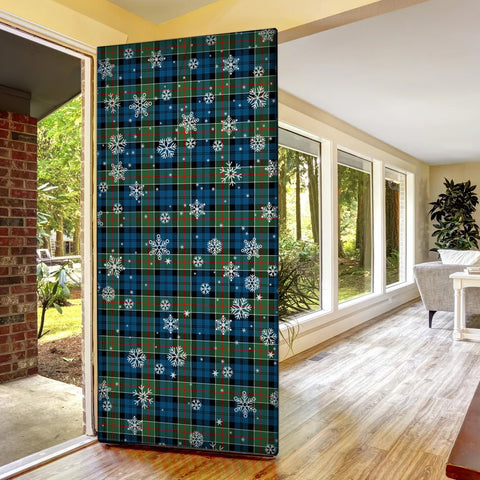 Image of Colquhoun Ancient Christmas Tartan Door Sock Cover