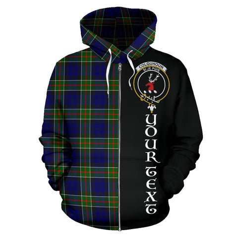 (Custom your text) Colquhoun Modern Tartan Hoodie Half Of Me | 1sttheworld.com