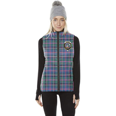Cooper Tartan Puffer Vest for Men and Women - Clan Badge K5