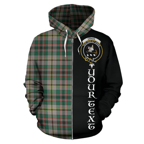 (Custom your text) Craig Ancient Tartan Hoodie Half Of Me | 1sttheworld.com