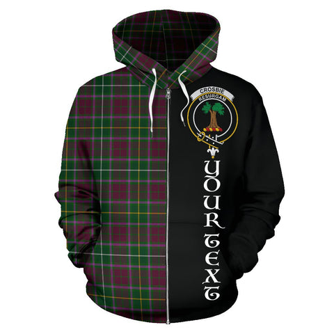 (Custom your text) Crosbie Tartan Hoodie Half Of Me | 1sttheworld.com