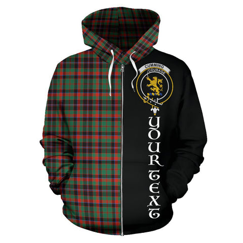 (Custom your text) Cumming Hunting Ancient Tartan Hoodie Half Of Me | 1sttheworld.com