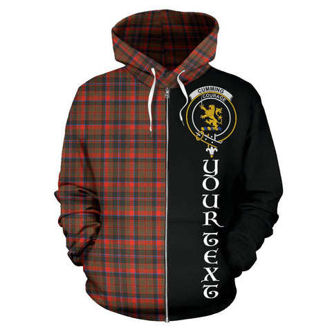 (Custom your text) Cumming Hunting Weathered Tartan Hoodie Half Of Me | 1sttheworld.com
