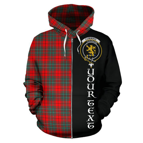 Image of (Custom your text) Cumming Modern Tartan Hoodie Half Of Me | 1sttheworld.com
