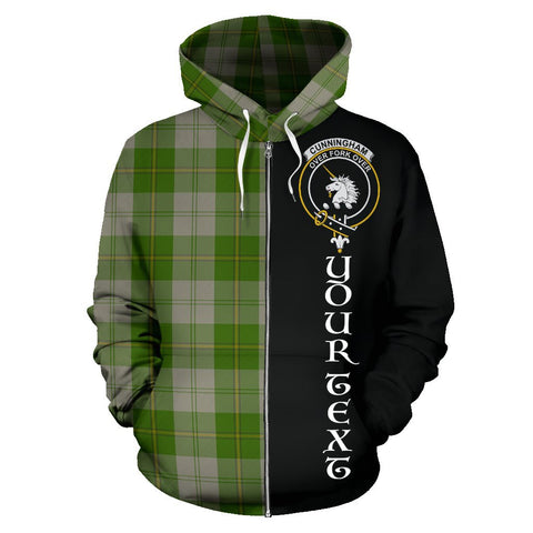 (Custom your text) Cunningham Dress Green Dancers Tartan Hoodie Half Of Me | 1sttheworld.com