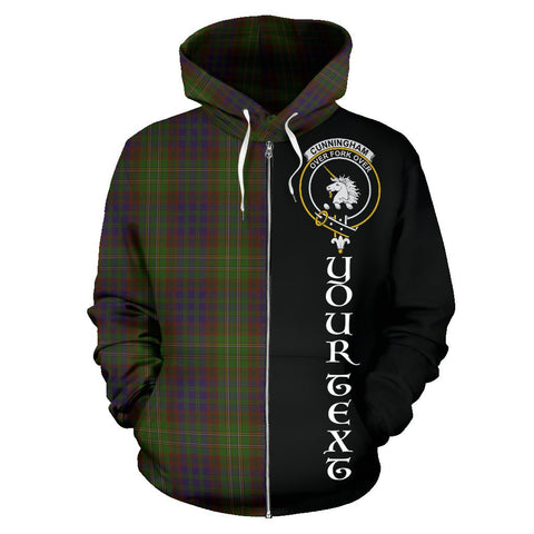 (Custom your text) Cunningham Hunting Modern Tartan Hoodie Half Of Me | 1sttheworld.com