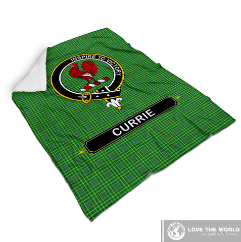 Currie (Or Curry) Tartan Blanket | Clan Crest | Shop Home Decor
