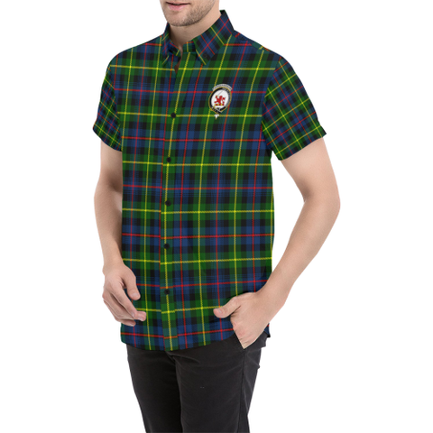 Image of Tartan Short Sleeve Shirt - Farquharson Clan | Exclusive Over 300 Clans and 500 Tartans
