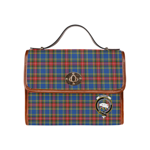 Image of Tartan Canvas Bag - Bethune Clan | Waterproof Bag | Scottish Bag