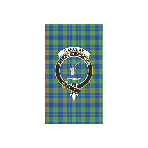 Image of Barclay Hunting Ancient Tartan Towel Clan Badge - BN