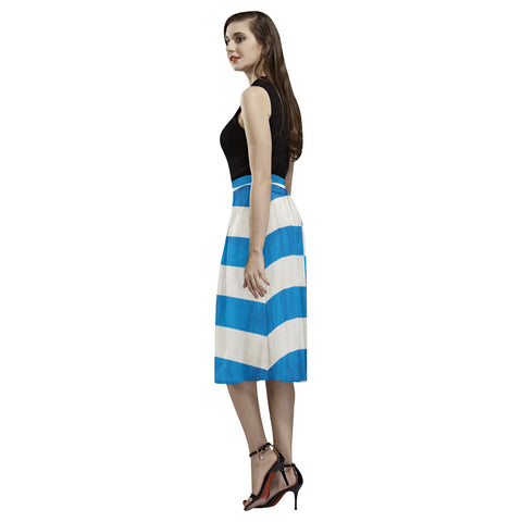 Image of GREECE FLAG AOEDE CREPE SKIRT A1