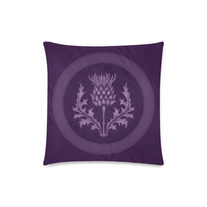 Scotland Cushion - Purple Thistle Zippered Pillow Cover A9