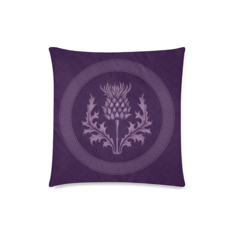 Scotland Pillow Case - Purple Thistle Zippered Pillow | Hot Sale