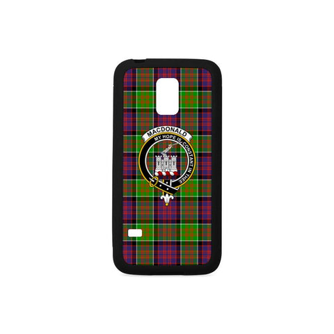 Image of Macdonald Of Clan Ranald Tartan Clan Badge Rubber Phone Case HJ4