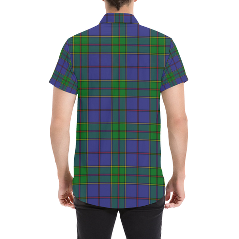 Tartan Short Sleeve Shirt - Strachan Clan | Exclusive Over 300 Clans and 500 Tartans