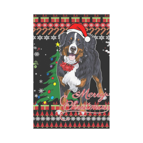 Image of Switzerland Bernese Dog Christmas Garden Flag K5