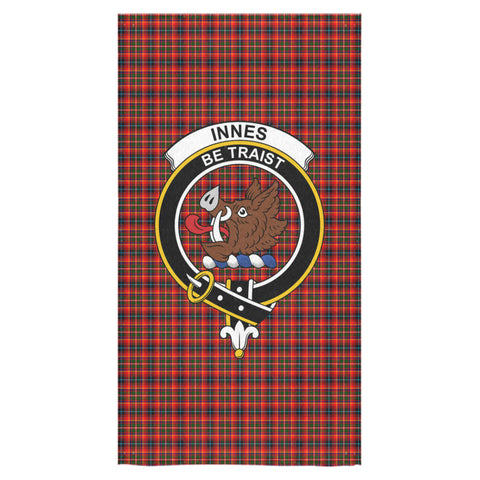 Image of Innes Modern Tartan Towel Clan Badge - BN