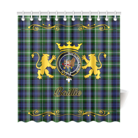 Tartan Shower Curtain - Baillie Clan | Scottish Home Set | Over 300 Clans