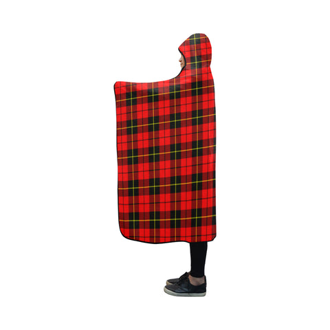 Wallace Hunting - Red Tartan Hooded Blanket - BN