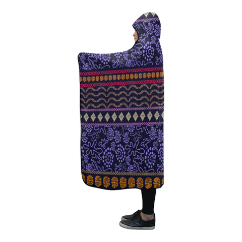 Australia Aboriginal 25 Hooded Blanket H7
