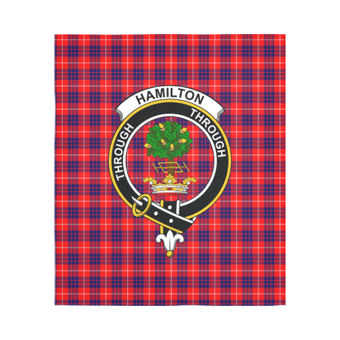 Image of Hamilton Modern Tartan Tapestry Clan Badge K9