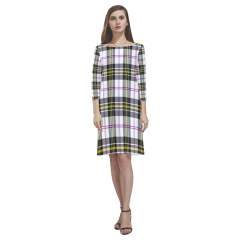 Macpherson Dress Modern Tartan Dress - Rhea Loose Round Neck Dress NN5