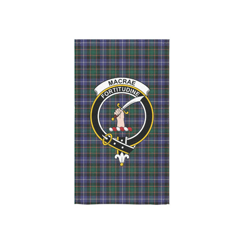 Image of MacRae Hunting Modern Tartan Towel Clan Badge NN5