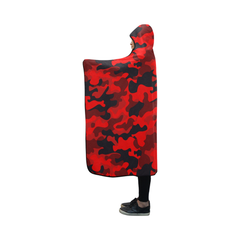 Red camouflage hooded blanket NN9