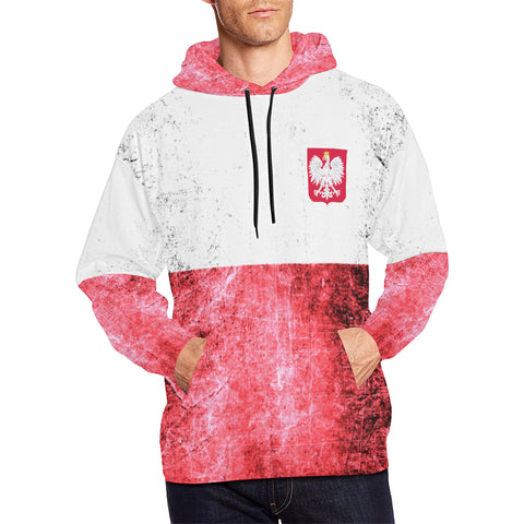 POLAND FLAG  ALL OVER PRINT HOODIE A1