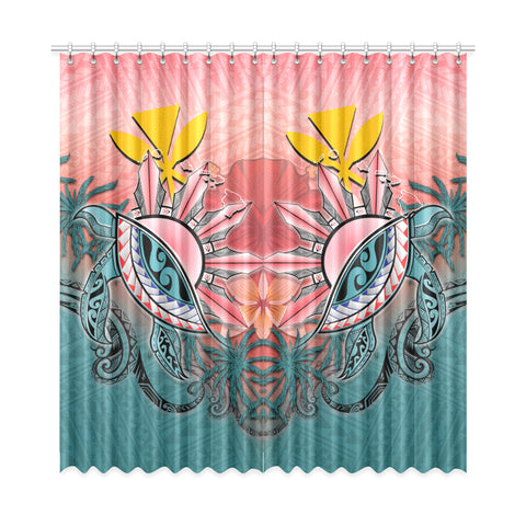 Kanaka Maoli (Hawaiian) Window Curtain - Polynesian Turtle and Sun A18