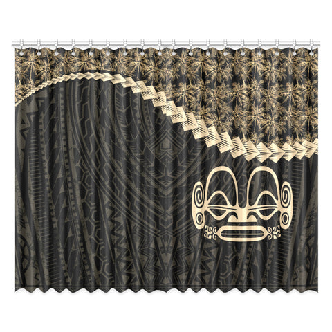 Image of Marquesas Islands Window Curtain Coconut Golden | Home Decor | 1sttheworld