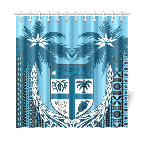 Image of Fiji Tapa Coconut Shower Curtain | Love the World