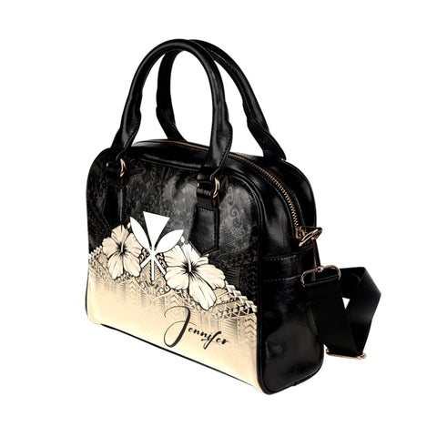 Image of (Custom) Kanaka Maoli (Hawaiian)  Shoulder Handbag Hibiscus Personal Signature A024