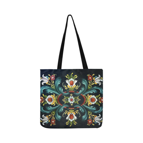 Image of Rogaland Rosemaling Reusable Shopping Bags | HOT Sale