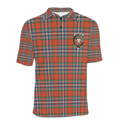 Image of Macfarlane Ancient Tartan Clan Badge Polo Shirt HJ4