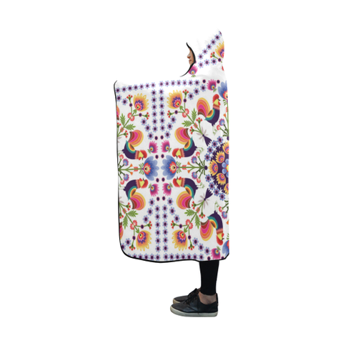 Poland Polish Folk Art Hooded Blanket 03 H7 | Love The World