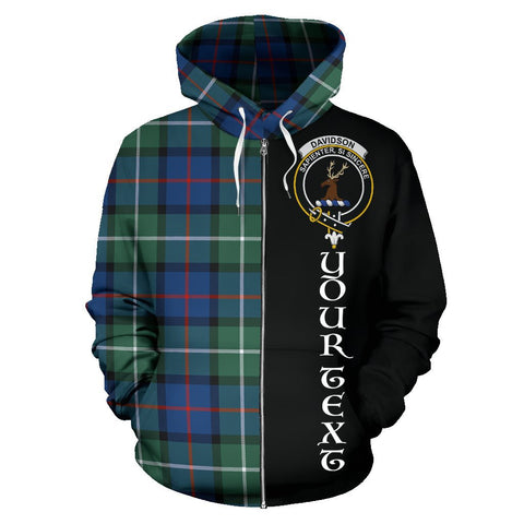 (Custom your text) Davidson of Tulloch Tartan Hoodie Half Of Me | 1sttheworld.com