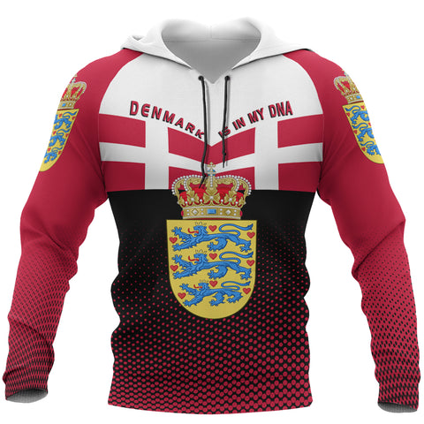 Denmark Hoodie - Denmark Victory Hoodie Classic Version - Red Mix - Front - For Men and Women