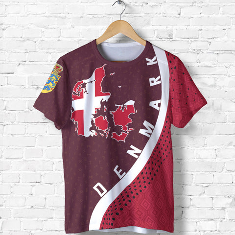 Denmark Map T Shirt Generation II K6 - Front