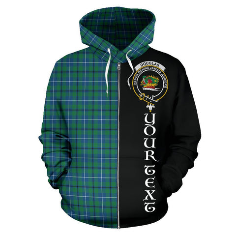 (Custom your text) Douglas Ancient Tartan Hoodie Half Of Me | 1sttheworld.com