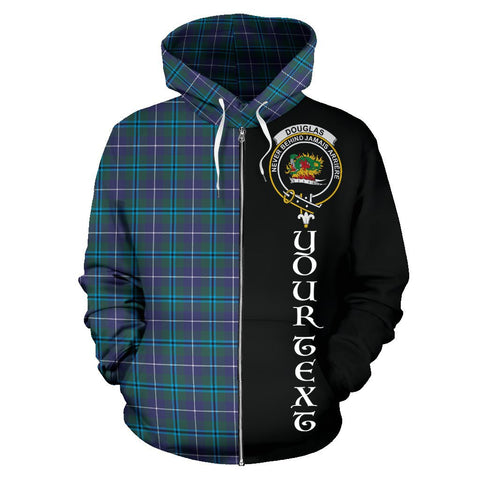 (Custom your text) Douglas Modern Tartan Hoodie Half Of Me | 1sttheworld.com