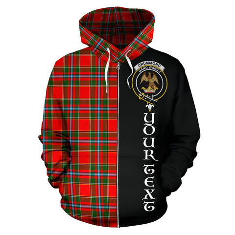 Image of (Custom your text) Drummond of Perth Tartan Hoodie Half Of Me | 1sttheworld.com