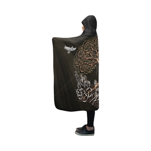 Viking Hooded Blanket - Viking Tree Of Life Yggdrasil A7