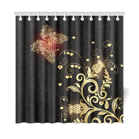 Image of Scottish Golden Thistle Shower Curtain A7