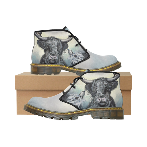 Scottish Highland Cow Chukka Boots | Women And Men | Boots | 1sttheworld