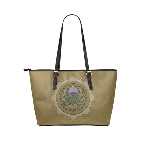 Thistle Scottish Luxury Large Leather Tote Bag - BN01