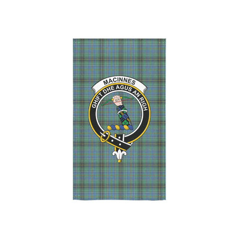 Image of MacInnes Ancient Tartan Towel Clan Badge NN5