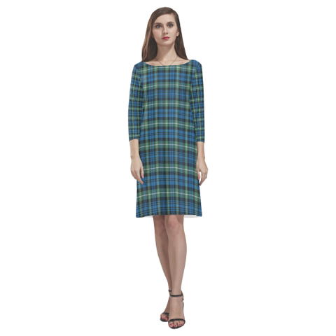 Image of Lamont Ancient Tartan Dress - Rhea Loose Round Neck Dress NN5